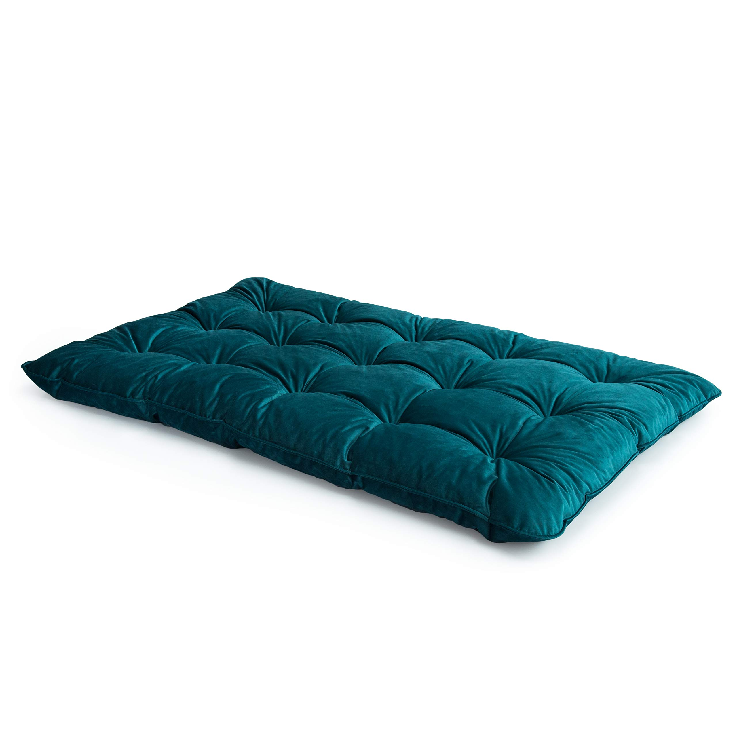 size 40 2e69c befe1 Loft 25® Velvet Fabric Mallard Foam Crumb Tufted Double Futon Mattress -  Best Futons