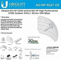 AirGrid M5-HP 27dBi Grid Antenna 5GHz CPE 24vdc POE 300mW