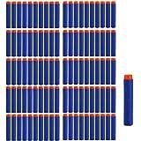 Dart Refill, 100 Universele Pijlen/Darts/Kogels geschikt voor NERF N-Strike Elite speelgoedblasters, zachte ronde hoofd schui