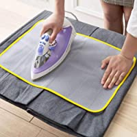 Lukzer 1 PC Protective Insulated Ironing Mesh for Clothes Delicate Garment Cloth Guard Home Press Mat Heat Resistant Reusable & Washable (40 x 60 cm)