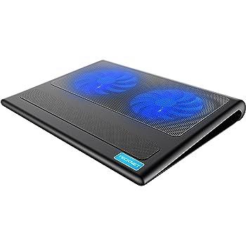 """Base Di Raffreddamento, TeckNet Raffreddamento Notebook Ventola per PC Laptop 12""""-16"""" con 2 Silenziose Ventole a LED e 2 USB Porte Portatili"""