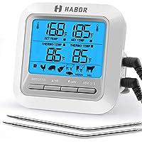 Habor Thermomètre de Four avec 2 Sonde, Grand Écran LCD, Mode Minuteur D'alarme, Lecture Instantanée, Thermomètre pour…