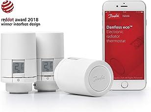 Danfoss 014G1101 Eco Home- Eletronisches Heizkörperthermostat mit Bluetooth-Funktion; Elektronischer, Programmierbarer Thermostat als Stand-alone-Regler für Einzelne Räume, (für Deutschland).