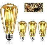 Edison LED ampoules, EYLM Vintage ampoule E27 LED ST64 4W 220V, ampoule decorative Edison Ampoule Antique lampe, Blanc Chaud