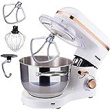 Arebos köksmaskin | 1500 W med 6 L kylskål i rostfritt stål | vit