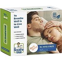 Dr. Breathe Well - 90 Cerotti nasali - Antirussamento - Taglia grande 66 mm 6,6 cm - Adesivo forte - Facile da rimuovere