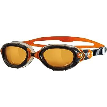 Zoggs Predator Flex Polarized Ultra - Gafas de natación, color negro/naranja, talla