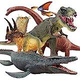 مجموعة ديناصور جامبو 5 قطع من جيسومبرو - شخصيات ديناصور واقعية المظهر مع سجادة لعب لعشاق الديناصورات - هدايا مثالية لحفلات ال