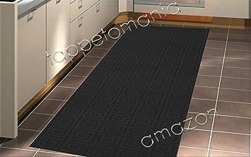 tappeto per la cucina nero, tappeto bagno antiscivolo lavabile in ...
