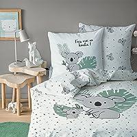 MATT & ROSE Housse de Couette et taie d'oreiller Koala 100% Coton, KOALIN 140x200 cm