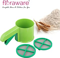 Floraware Plastic Sifter Set, 4-Pieces, Green