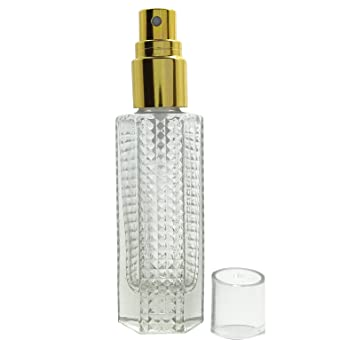 d547df5068cd Lot Of 4 Clear Glass Empty Perfume Atomizer Spray Bottle Wholesale Spray  Golden Cap Perfume Bottles Refillable Essential Oil 25 ml Atomizer