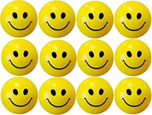 Fun Store 12 Pcs Set of Smiley FACE Squeeze Ball