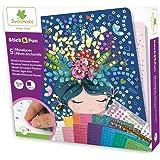 Sycomore-CRE7009 Mosaici autoadesivi per Bambini-5 Quadri Sogni incantati-attività Creativa-Stick & Fun-A Partire dai 5 anni-