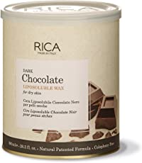 Rica Dark Chocolate Wax for Dry Skin, 800ml (28.2 Fl.Oz.)