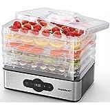 Aigostar Crispy- Deshydrateur alimentaire avec 5 plateaux. Déshydrateurs sans BPA, 240W. Déshydrate fruits, viande, légumes e