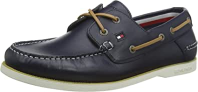 Tommy Hilfiger Classic Leather Boat Shoe, Chaussures Bateau Homme