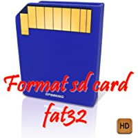 Format sd card fat32