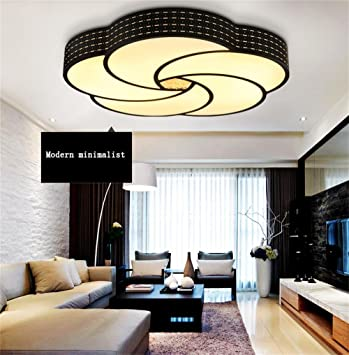 Modern Lounge The Bedrooms Dining Room Fashion LED Ceiling Efficiency A Color Black Three Temperature M Amazoncouk Kitchen Home