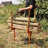 Forest Master Sägeständer Spikes Typ BLSS Brenn-Holz Säge-Ständer Säge-Hilfe Säge-Bock