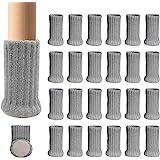 Ezprotekt 24 stuks stoel been sokken hoge elastische vloer beschermers niet slipstoel been voeten sokken dekt meubels caps se