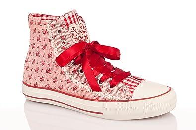 db34301a97a2fa Trachten Damen Sneaker - NELI - blau, rot: Amazon.de: Schuhe ...