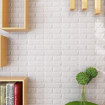 10 Pcs Papier Peint Briques 3d Ytat Stickers Muraux 3d Brique Diy