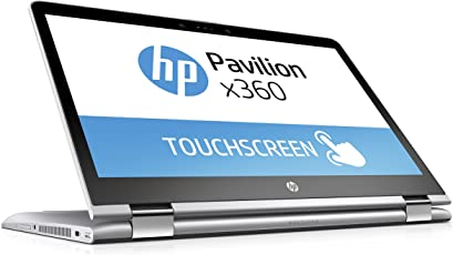 HP Pavilion x360 14-ba017ng 35,6 cm (14 Zoll) Convertible Laptop (Intel Pentium 4415U, 256 GB SSD, 8 GB RAM, Intel HD-Grafikkarte 610, Windows 10 Home 64) silber