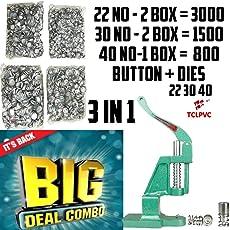 Fabric Button Press Machine 3 Dies + 3 Buttons Type Combo Triple Profit