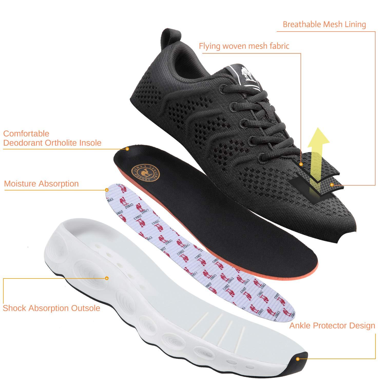 4df91fdca0e4a CAMEL CROWN Scarpe da Corsa da Donna Uomo Moda Sneakers Traspiranti Maglia  Morbida Leggera Leggera Atletica Leggera
