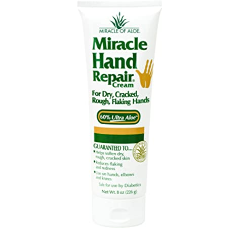 Miracle of Aloe Miracle Hand Repair Cream 8 Oz Relieve Dry
