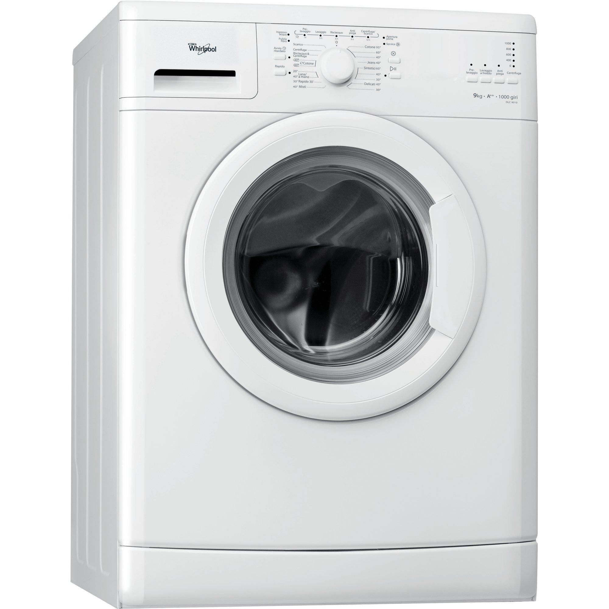 Whirlpool DLC9010 Libera installazione Caricamento frontale 9kg 1000RPM A++ Bianco lavatrice
