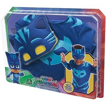Giochi Preziosi Super Pigiamini Pj Masks Costume Travestimento Gattoboy, Multicolore, Taglia Unica PJM07100
