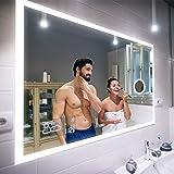 FORAM Moderne Miroir avec LED Illumination Salle de Bain avec Accessoires - sur Mesure - LED Lumineux Miroir avec Éclairage i