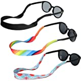 Hifot laccio occhiali cordino sole sport uomo donna bambino 3 Pezzi, Regolabile Galleggiante Cinturino Catena Occhiali da Sol