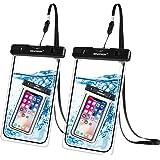 جراب هاتف خلوي كبير مضاد للماء من نيوبون: (2 حزمة) IPX8 حقيبة عالمية جافة لآيفون 11 برو ماكس Xs XR X 8 7 6S بلس سامسونج جالاك