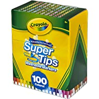 Crayola Super Tips Lot de 100 marqueurs lavables Multicolore
