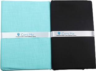 Cotts Hub Men's Cotton Shirt & Trouser Fabric, 100% Pure Cotton - Combo Cut Piece Set in Gift Box (LL17)