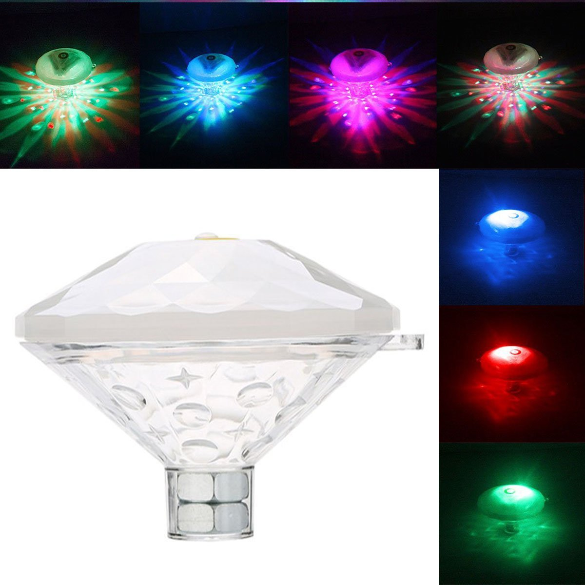 Underwater Floating Lamp LED Disco Aqua Glow Multi Colour Flashing ...