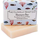 Clovelly Soap Co Handmade Natural Shampoo Soap Bar with Eucalyptus Mint & Lemon for Dry-Normal Hair & Scalp 100g