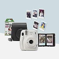 Fujifilm Instax Mini 11, ensemble d'appareils photo, Amazon Exclusive, Bianco (blanc glacier)