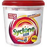 Syclone Matic Front Load Detergent Powder for Washing Machine, 4Kg (with FREE Container worth Rs 129)