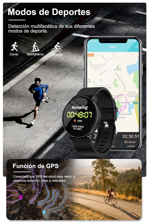 AIMIUVIE Smartwatch, Reloj Inteligente IP67 con Pulsómetro Podómetro Presión Arterial Oxígeno de Sangre, Sueño, Reloj Inteligente Deportivo para Mujer Hombre … 6