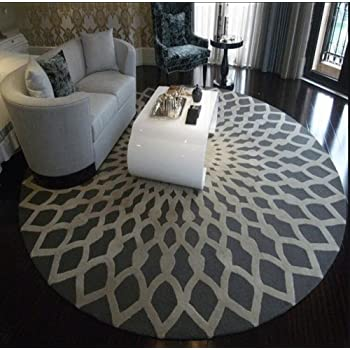 Mode Scandinave Tapis Rond Noir Et Blanc Salon Table Basse Table
