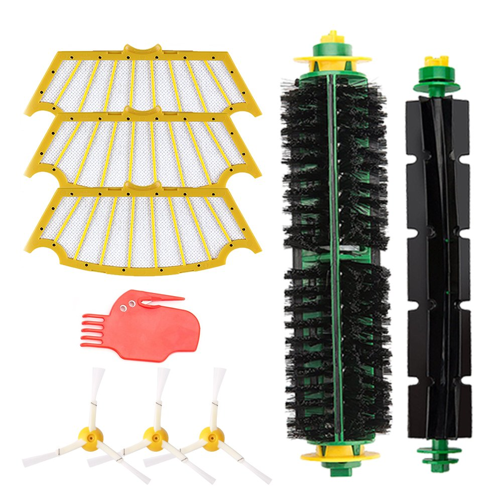 Yosahaw Kit de Reemplazo para iRobot Roomba 500 600 700 800Series roomba recambios+Bateria 3800 mAh Ni-MH