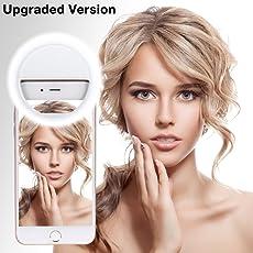 Selfie Licht, 36 LED Strahler Flash Selfie Licht Ring Fotolicht Selfie Enhancing Kamera Licht für Smartphones und Tablets mit 3 Ebene Helligkeit