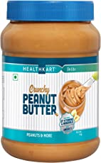 HealthKart Peanut Butter Fortified with Vitamins & Minerals Crunchy, 1 KG