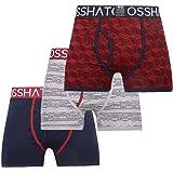 Crosshatch Mens Designer 3 Pack Boxer Shorts
