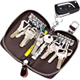 Key case SINOKAL Keychain Bag Unisex Large Leather Wallet Cover Car Key Wallet with 12 Hook