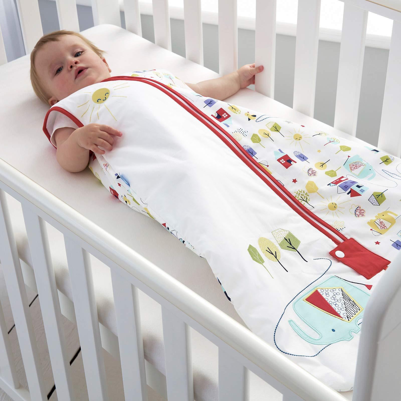 2,5 Tog, 100/% algod/ón, unisex Grobag multicolor Talla:0-6 meses Saco de dormir para beb/é